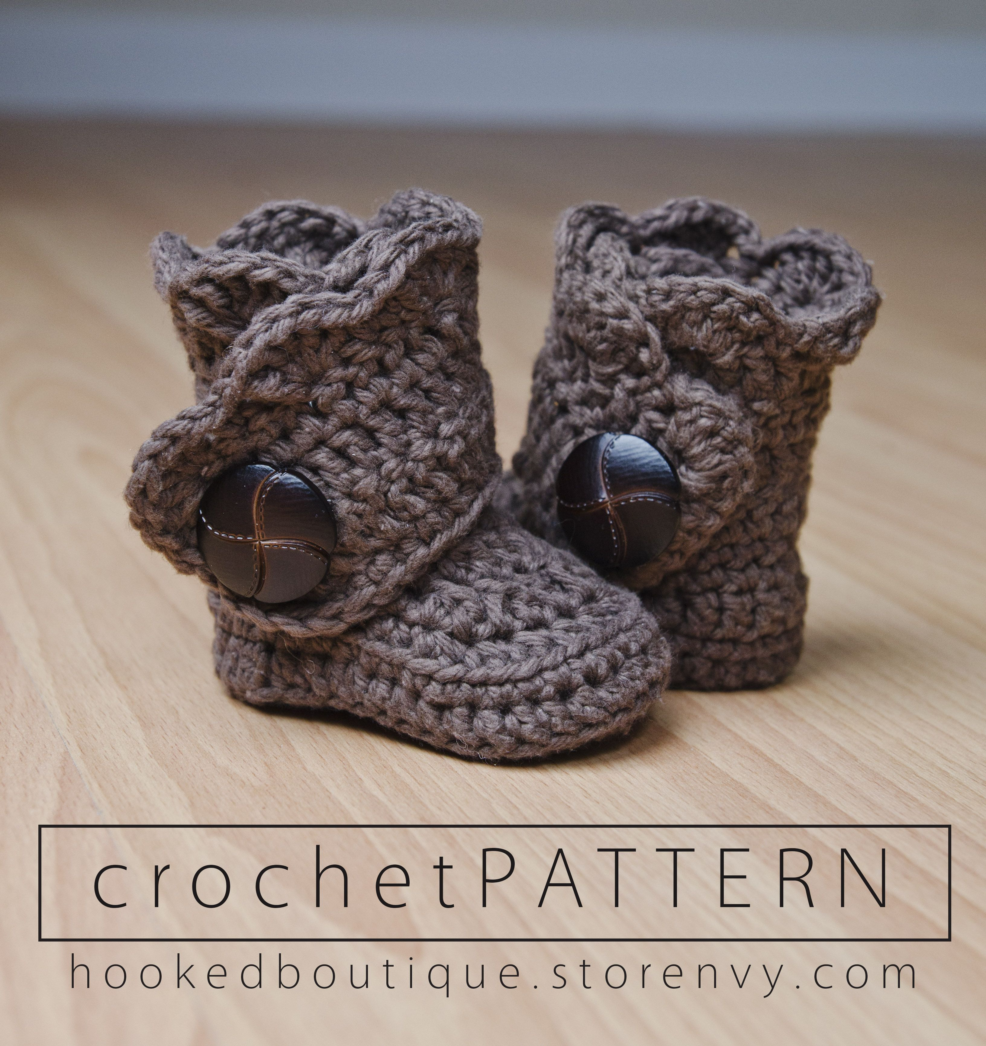 Crochet these modern booties for your special little ones! These are ...