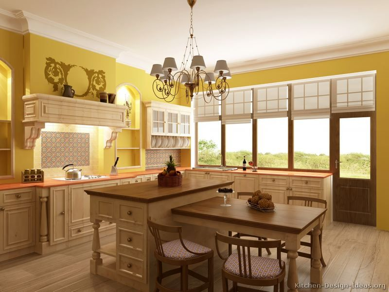 """""""Traditional Whitewash Kitchen Cabinets"""" I love this ..."""