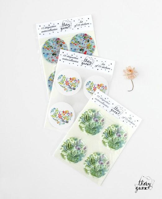 le blog de Thévy !: Nouvelles créations d'autocollants illustrés *** New illustrated sticker designs by Thévy Guex  #sticker #étiquette #autocollant #design #illustration #illustrator #thevyguex #cutestationery #staionery #stationerylover #scrapbooking #snailmail #mail #giftwrapping #decorate #cute #kawaiistationery #fromparis #illustrated #botanical #watercolor #botanicalillustration #botanicalwatercolor