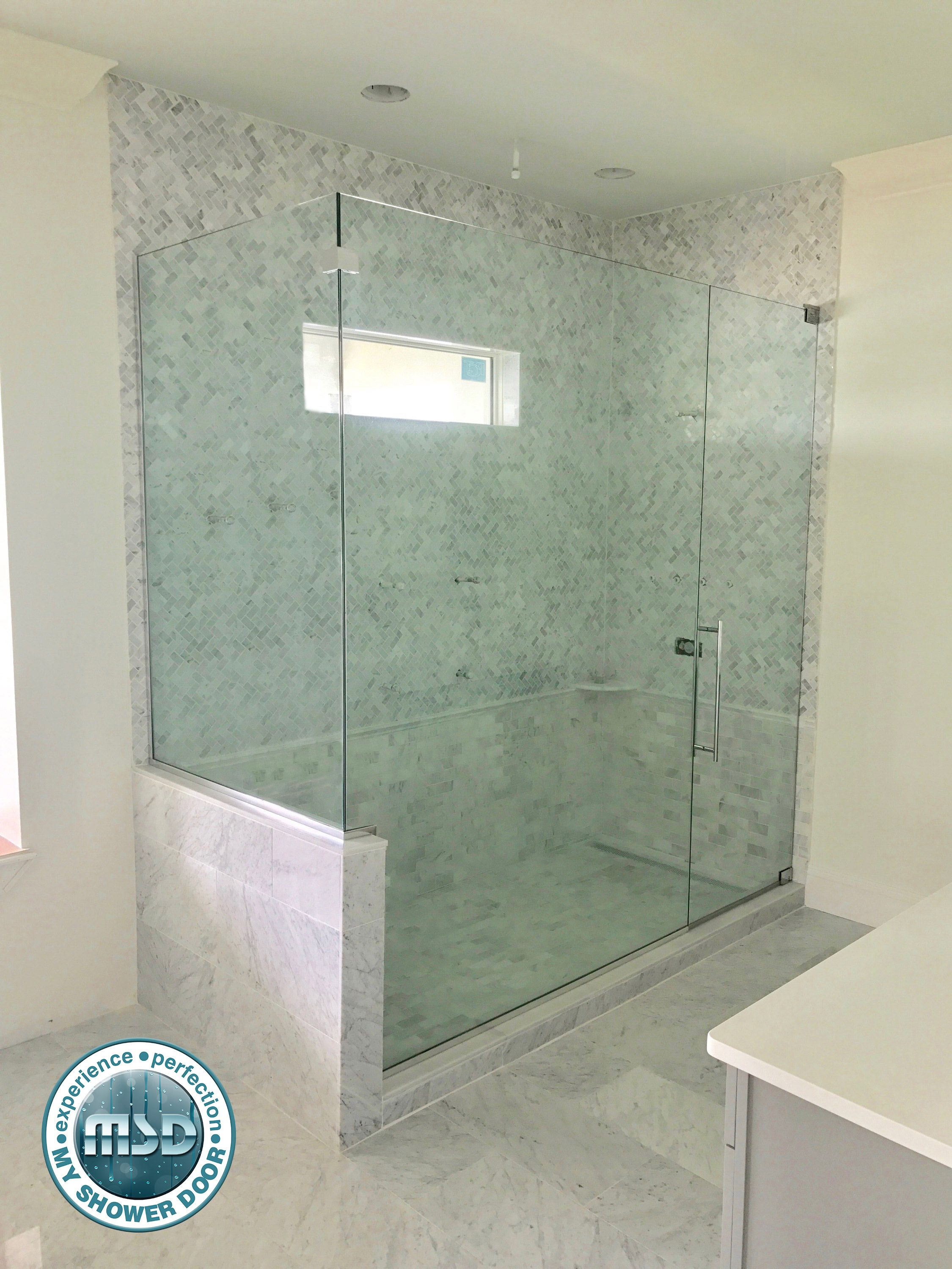 Beautiful Shower With A Beautiful Frameless Shower Enclosure Love