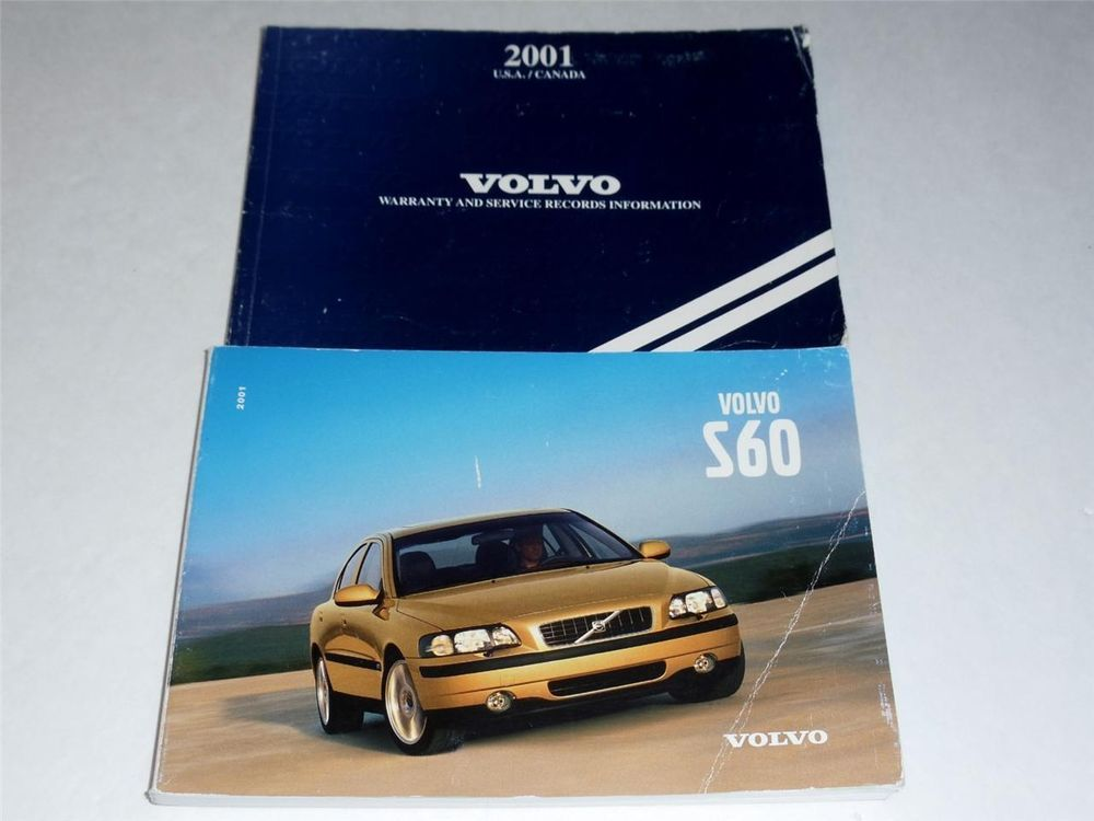 2001 Volvo S60 Owners Manual Book Owners Manuals Volvo S60 Volvo