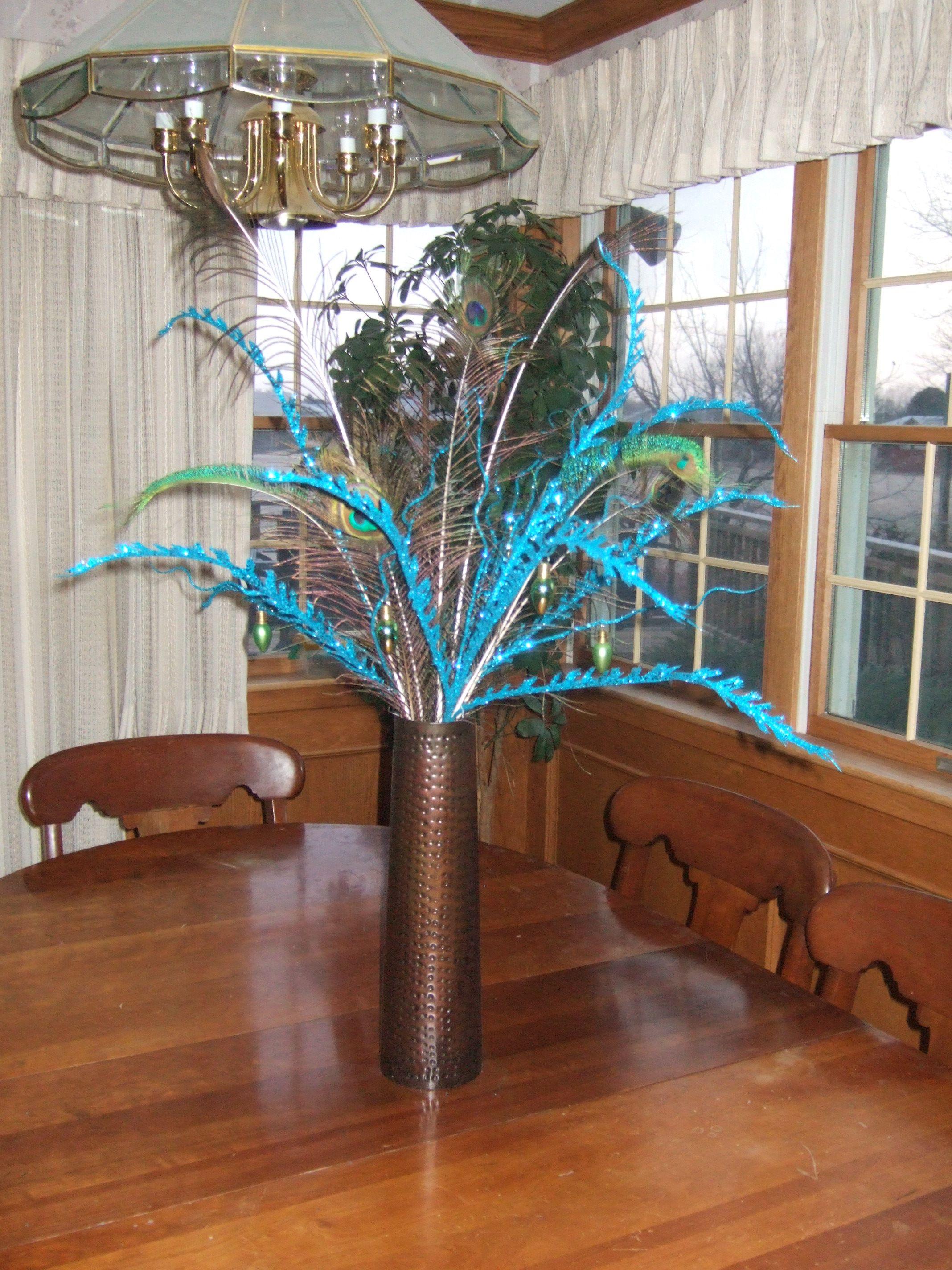Centerpiece - Peacock Christmas
