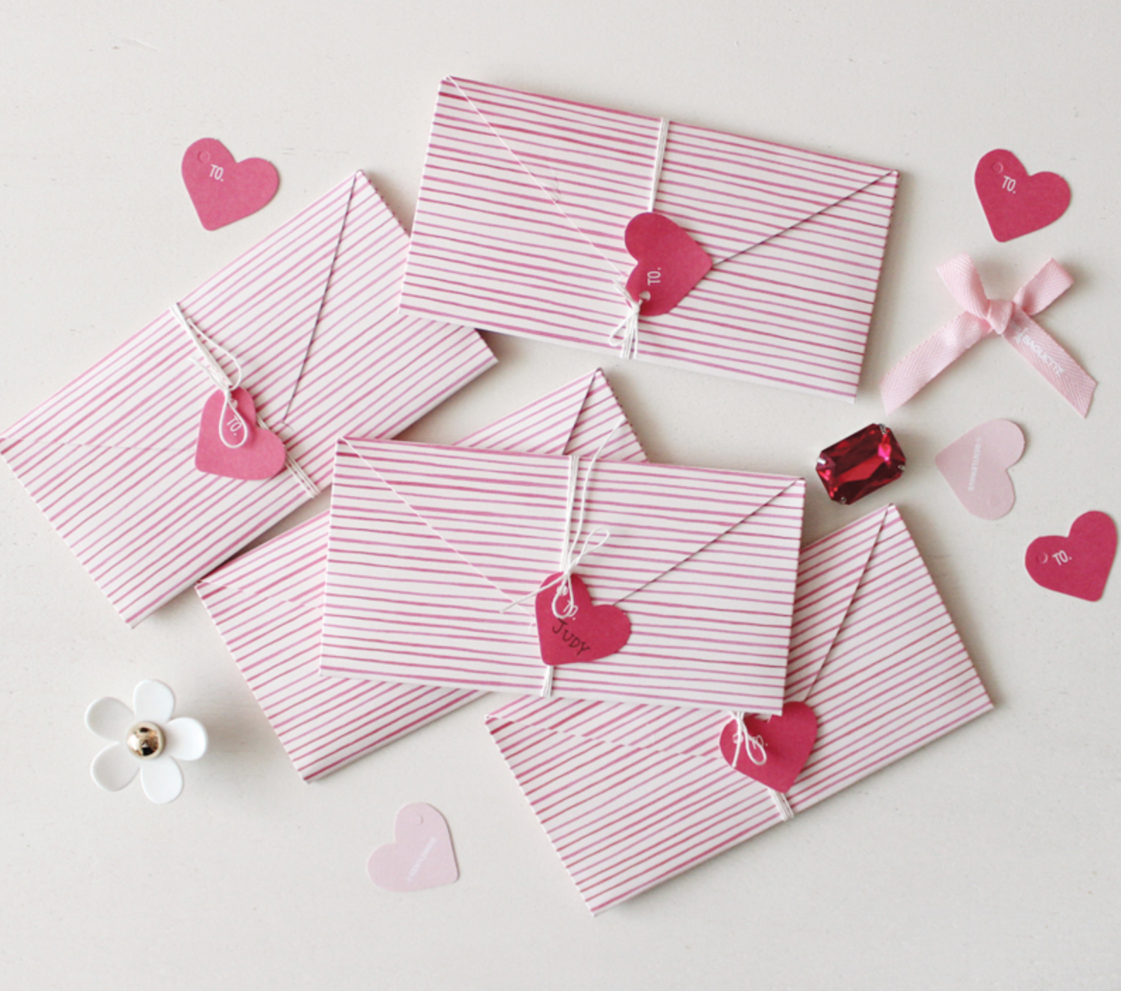 3Sets Heart Shaped Birthday Wedding Christmas Greeting Message Card Envelope