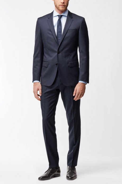 62bff739 Hugo Boss Italian Virgin Wool Sport Coat, Slim Fit | Hayes Cyl - Dark Blue  38L