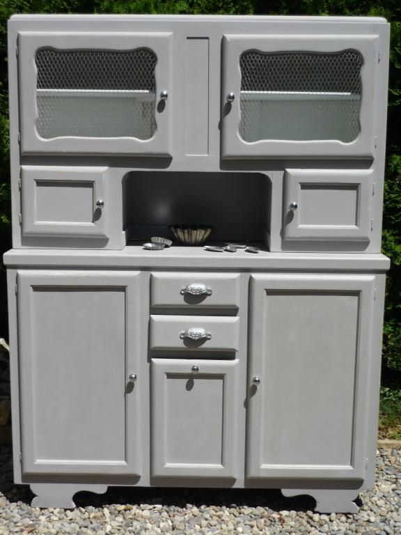 Buffet années 50 patiné gris   Restored Old Furniture   Pinterest ...