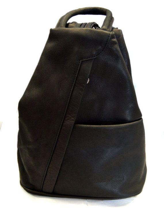 1b525d9b92f8 Leather backpack ladies mens lether travel bag weekender