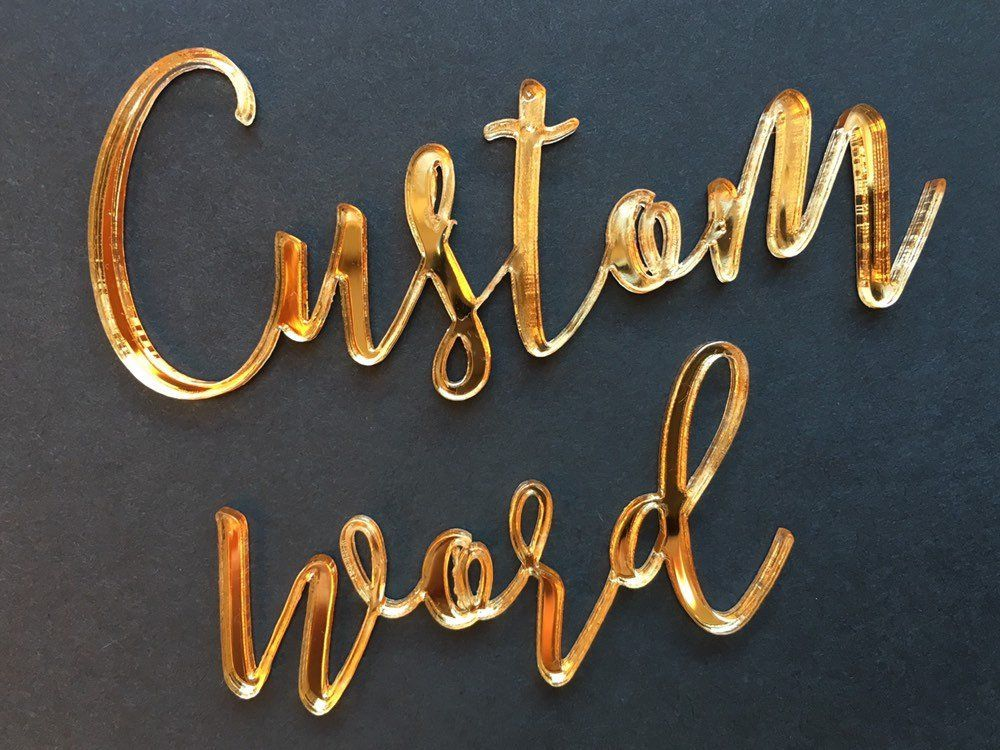 Custom Words Mirror Gold Acrylic Sayings Sign Mirror Letters Acrylic Sign Acrylic Name Sign Sign With Quotes Personalised Mirror Mirror Letters Acrylic Sign Name Signs