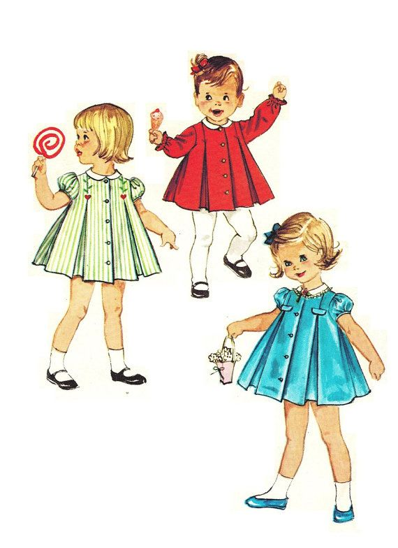 Simplicity 4663 Vintage 60s Toddler Girls by PatternPlaying