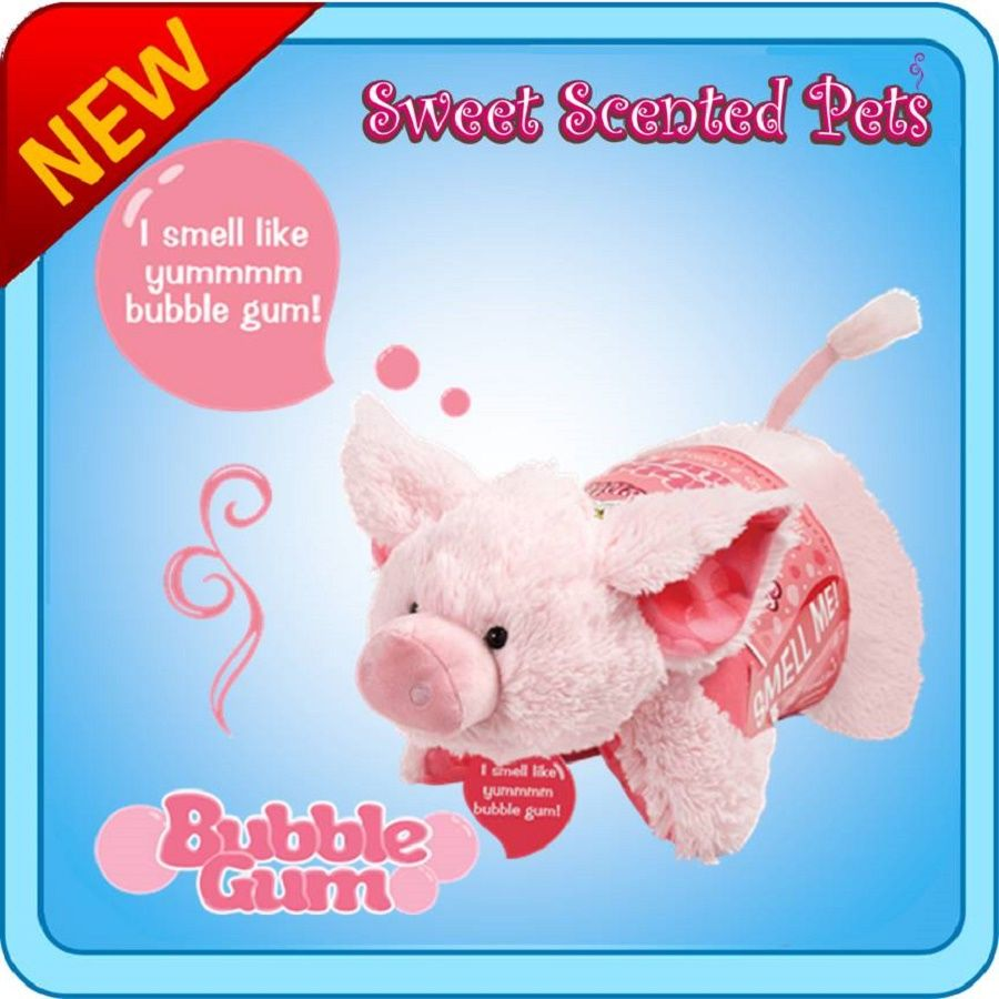 Sweet Scented Bubble Gum Piggy Pillow Pet Animal Pillows