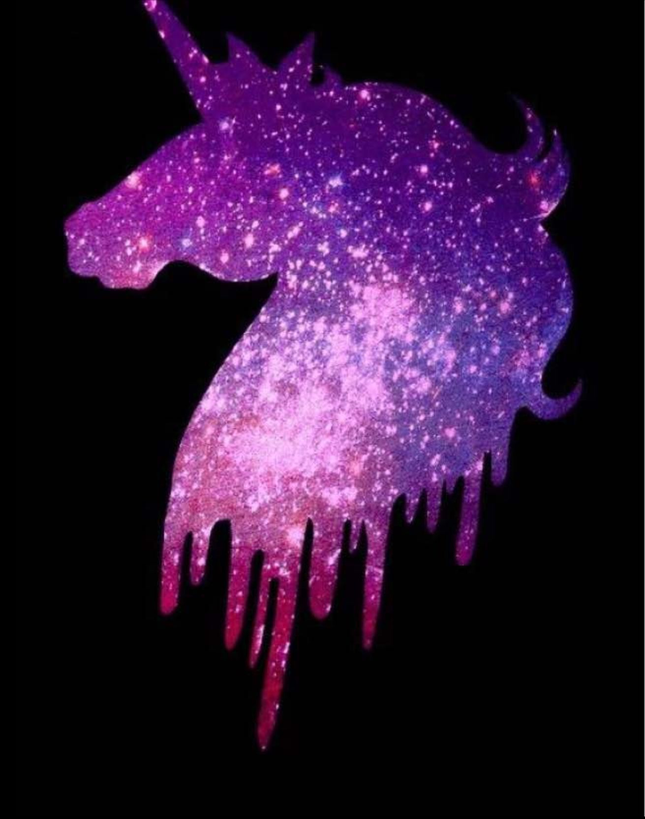 Galaxy Sparkle Glitter Rainbow Unicorn Wallpaper Novocom Top