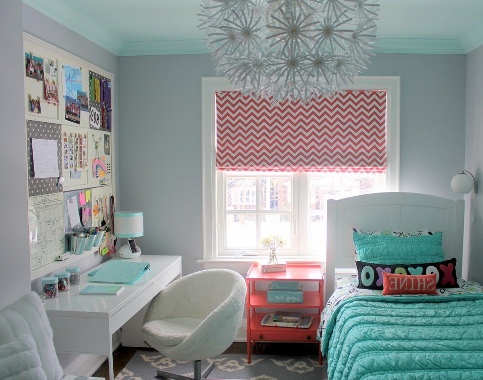 tween bedrooms. Aqua desk chair kids transitional with tween bedroom light aqua