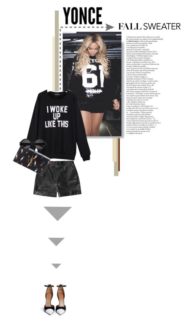 """""""FLAWLESS"""" by sunshineb ❤ liked on Polyvore featuring Yves Saint Laurent, Givenchy and Dr. Martens"""