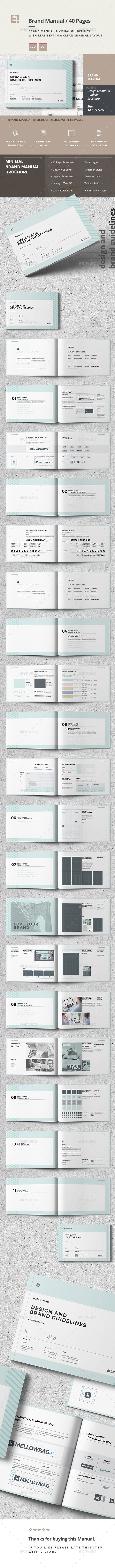 Brand Manual  Brand Manual Brochures And Brochure Template
