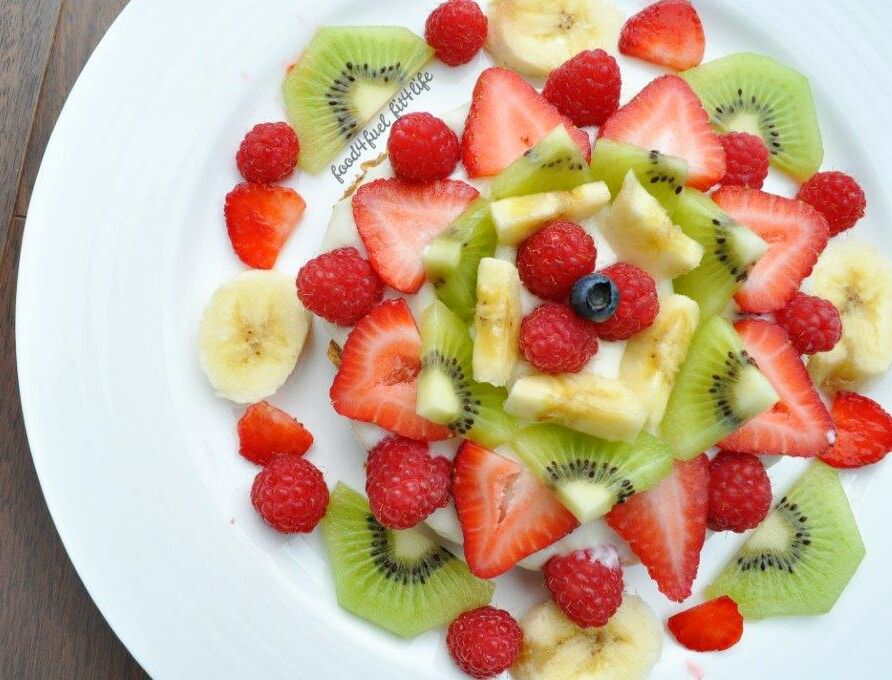 Fruit Protein Pizza