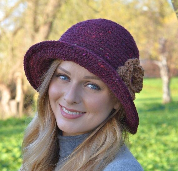 Crochet Pattern Ladies Hat Downton Abbey Cloche Hat Easy Crochet Hat
