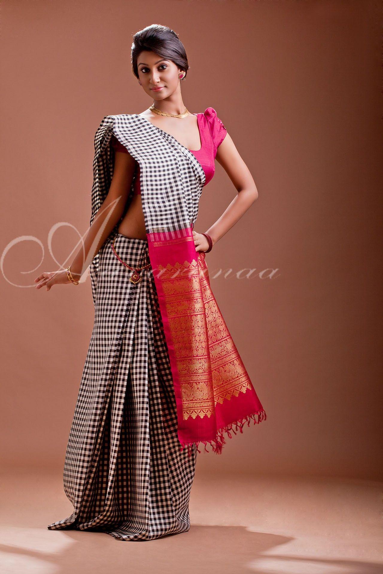 be5f411699 Chic fusion saree from Aavaranaa | awesome sarees | Silk saree ...