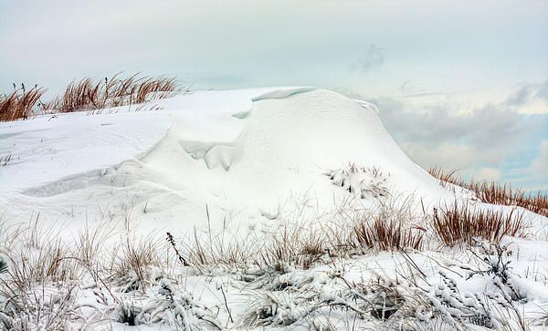 The Snow Dunes Long Island Beaches Beach Island Beach
