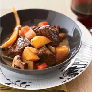 When Ethan Stowell was growing up, his father was the family cook; beef stew was one of his specialties. Unlike his dad, who favored rump roast, Stowell uses short ribs, a marbled cut that turns fabulously succulent and tender when slow-simmered.