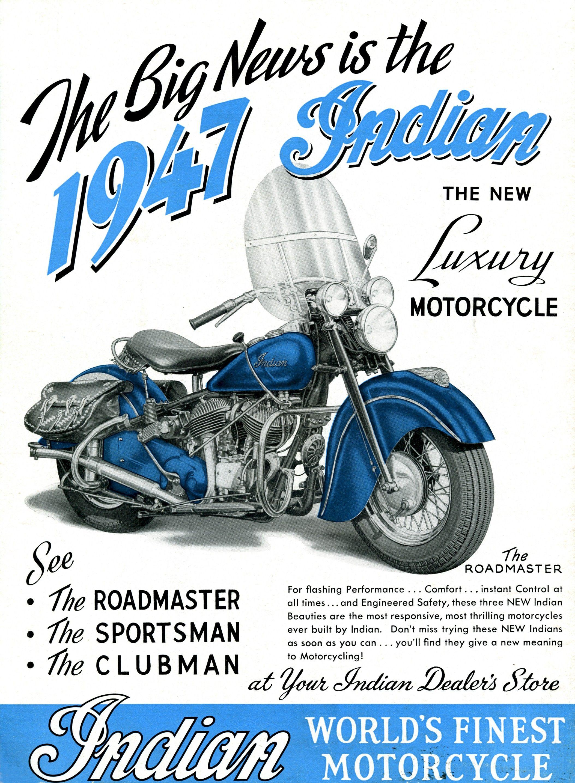 Vintage Indian Motorcycle Ad (2) - Vintage Advertising Art