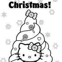 Christmas Coloring, Happy Christmas Hello Kitty Coloring Pages Christmas Tree: happy christmas hello kitty coloring pages christmas tree