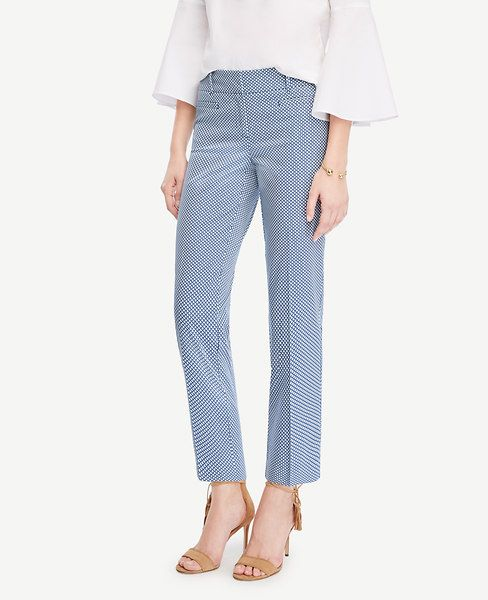 STYLIST!!!  JUST GOT THESE PANTS...NEED SOMETHING TO GO WITH THEM!!!!!ANN TAYLOR Kate Mosaic Cropped Pants. #anntaylor #cloth #pants