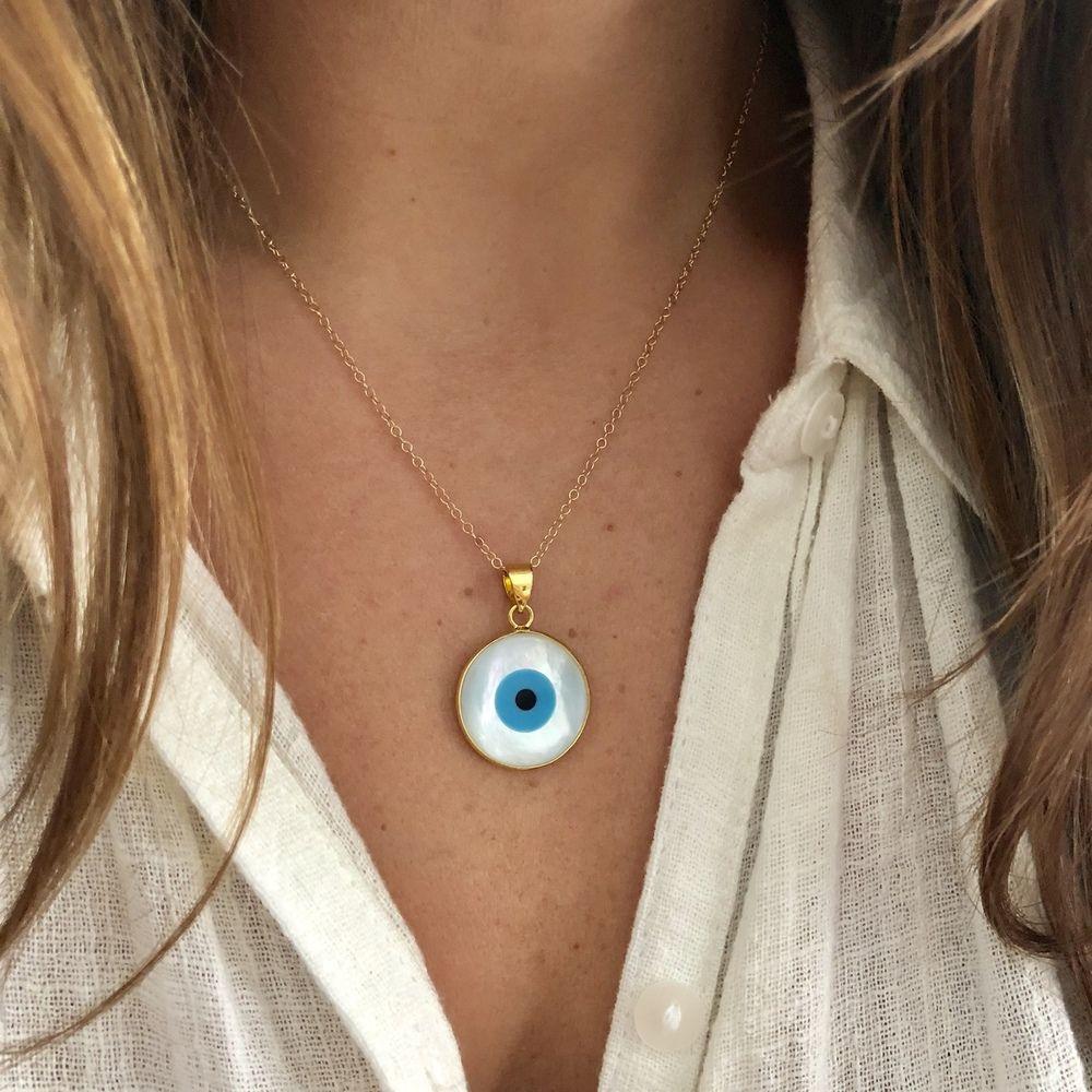 Large Evil Eye Necklace N K Designs Evil Eye Necklace Evil Eye Jewelry Evil Eye Earrings