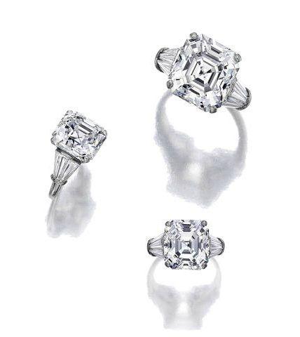 A diamond solitaire ring, Ruser. Photo: Courtesy of Bonhams.