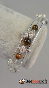 Photo of #Beebeecraft idea to make #TigerEye # bracelet with #Gemstonebeads.