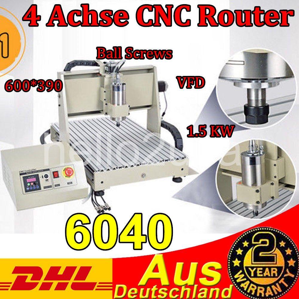 4 Achse 6040t Graviermaschine Cnc Router Anschneiden MÃhle Bohrer 1500w Dhl Kitchen Appliances Stuff To Buy Home