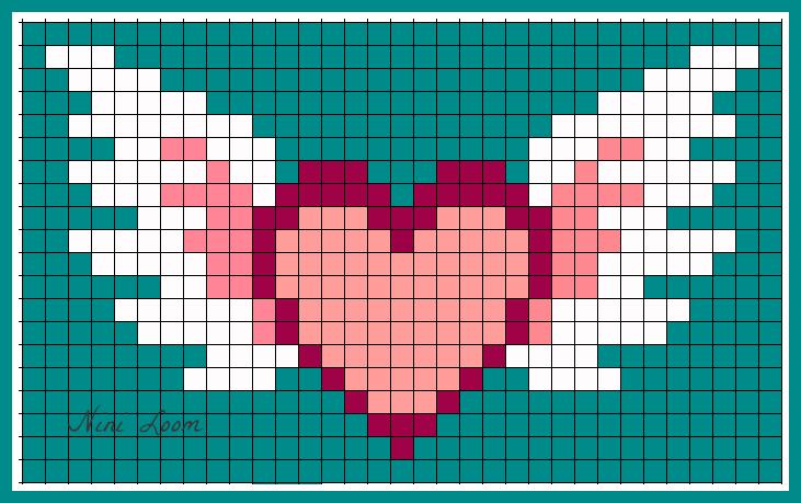 Cœur Avec Des Ailes Pixel Art Animaux Mignon Coeur Pixel