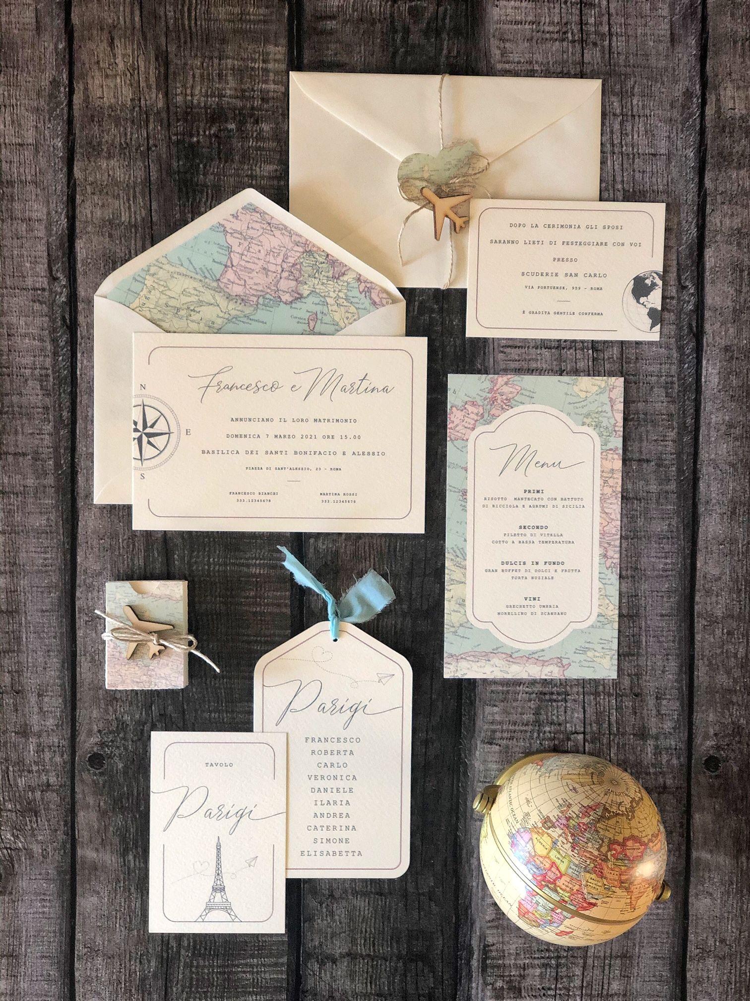Partecipazione Matrimonio A Tema Viaggio Travel Theme Wedding Invitation Nel 2020 Matrimoni A Tema Viaggio Matrimoni A Tema Matrimonio