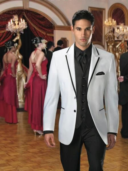 Jean #Yves #2 #button #white #savoy #tuxedo with #black #edge.Only ...