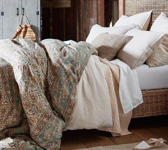 Selena Print Duvet Cover Amp Sham Multi Potterybarn Blue Duvet Cover Duvet Covers Neutral Bed Linen
