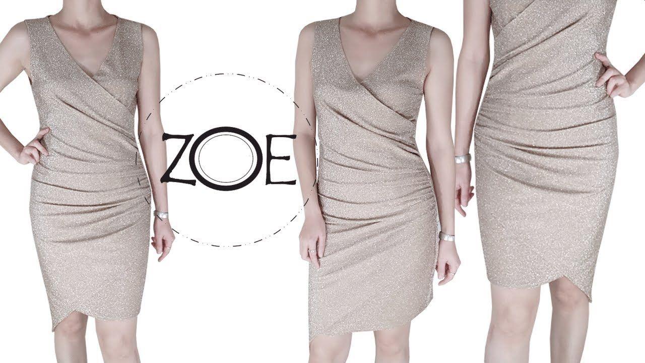 Diy Sewing Sequin Warp Dress Free Sewing Pattern Zoe Diy Youtube In 2020 Sewing Patterns Free Dress Sewing Patterns Fashion