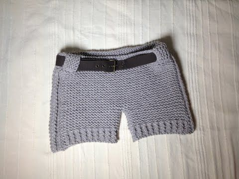 How to Loom Knit Shorts (DIY Tutorial) - YouTube   Knitting/ crochet ...