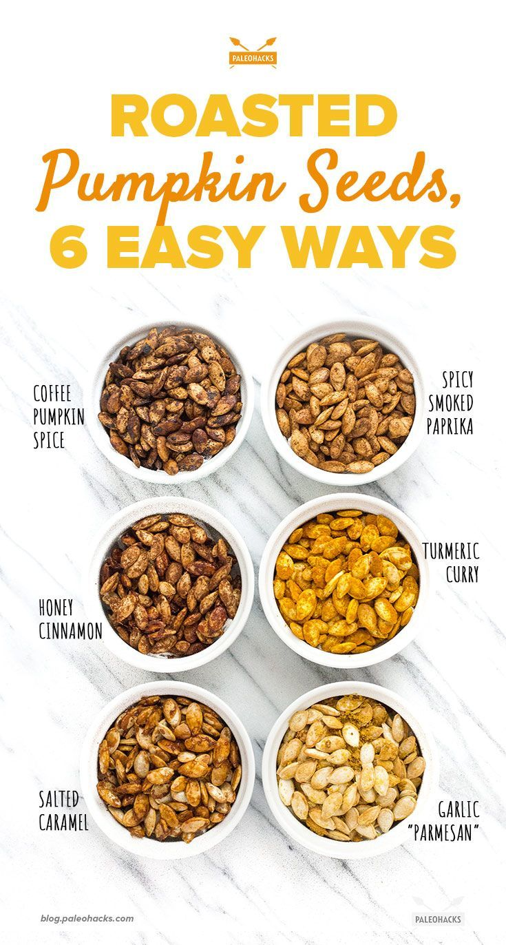 Roasted Pumpkin Seeds, 6 Easy Ways