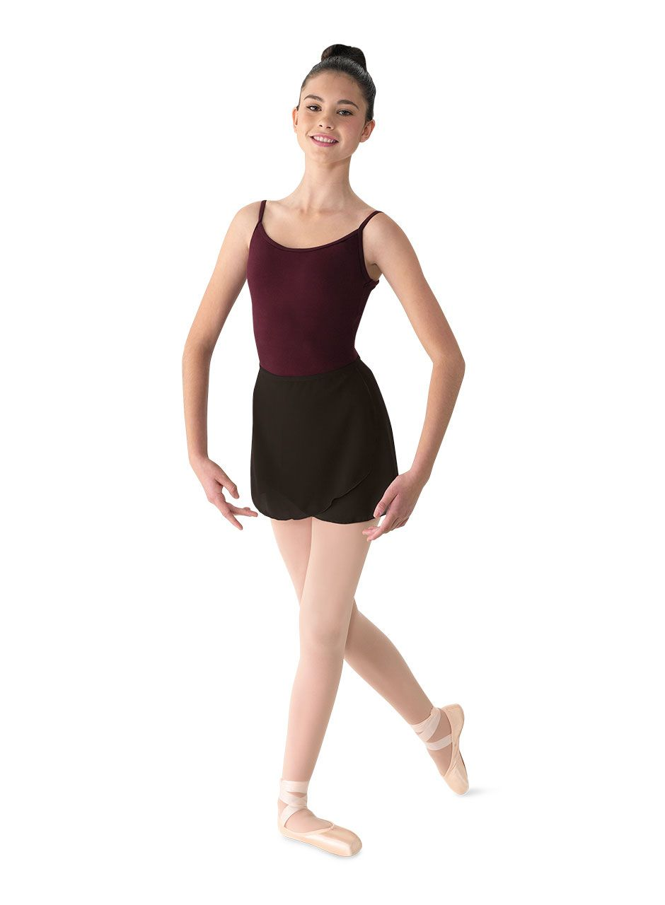 7463305e4 Adult Short Georgette Wrap Ballet Dance Skirt by Bloch in Black #MS12-MS12A