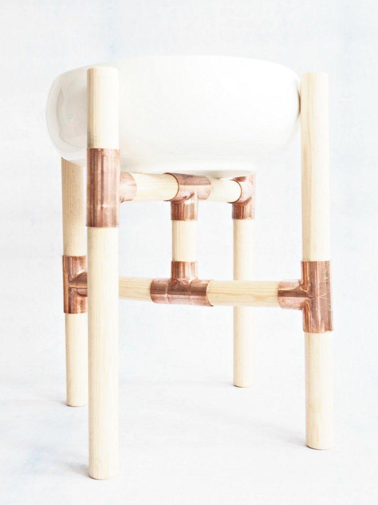 Make your own copper centerpiece with wood & copper - Brug kobber til at lave denne skønne opsats.