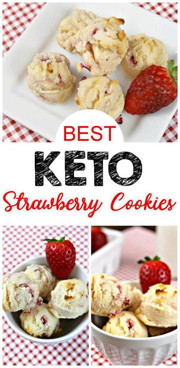 BEST Keto Cookies! Low Carb Strawberry Cheesecake Cookie Idea – Quick & Easy Ketogenic Diet Recipe – Fat Bomb Cookie – Completely Keto Friendly images