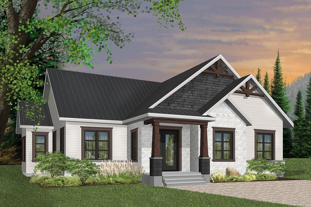 Craftsman Style House Plan 3 Beds 2 Baths 1631 Sq Ft Plan 23 2667 Craftsman Style House Plans Drummond House Plans Craftsman House Plans