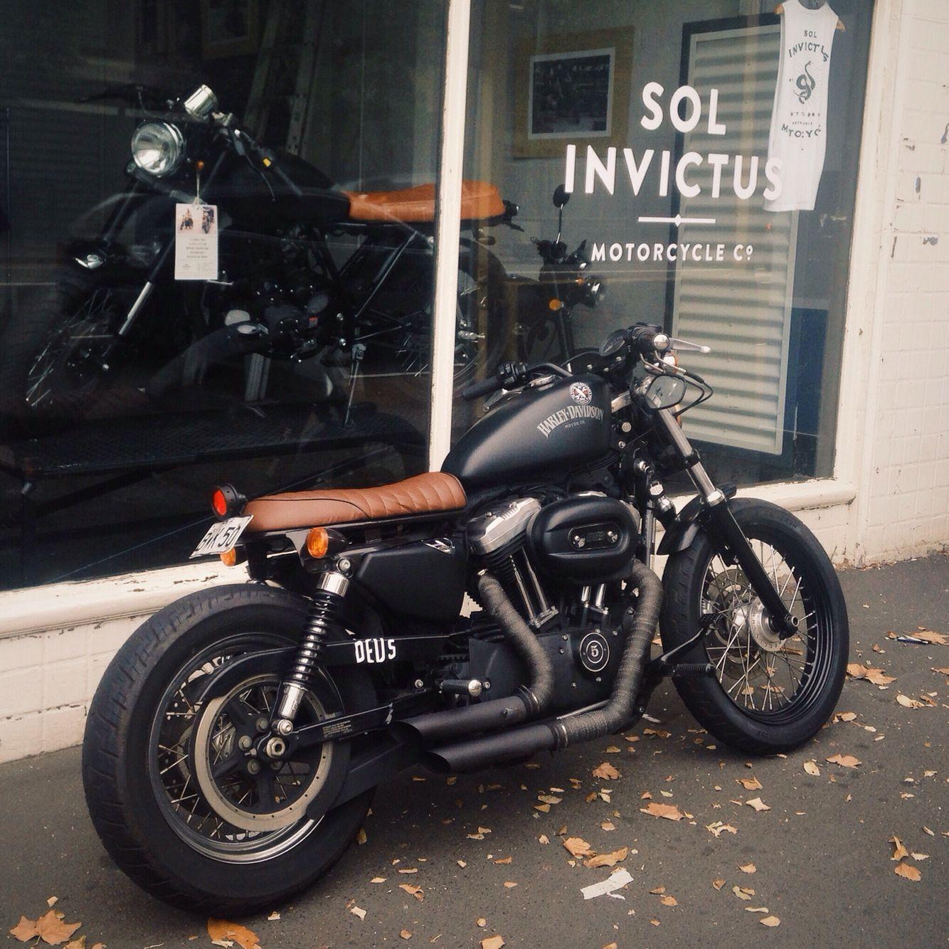 Harley Davidson Brat Caferacer Cafe Racer Motorbike