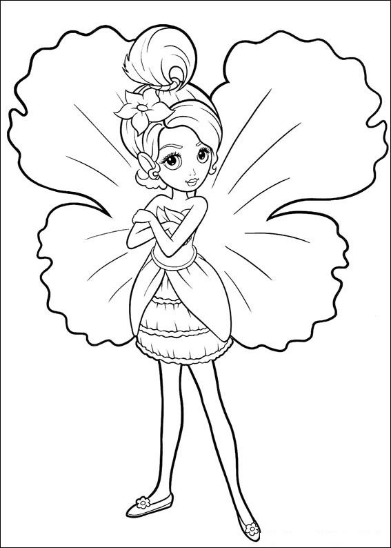 Fairy Coloring Pages Barbie As A Kid Craft