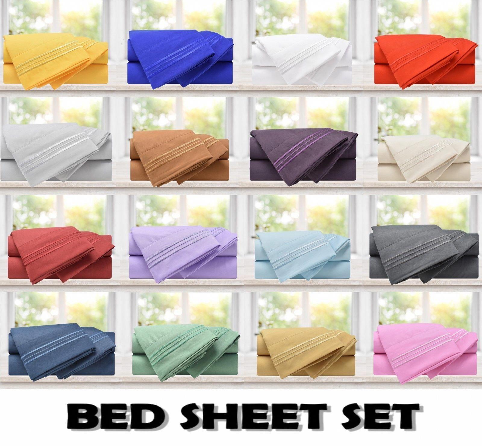 Super Soft And Cozy 1800 Premier High Quality Brushed Microfiber Bed Sheets Set Bedandlinens