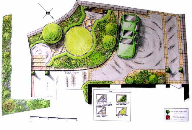 Aménagement de terrasse et jardins... | Front yards, Feature and ...