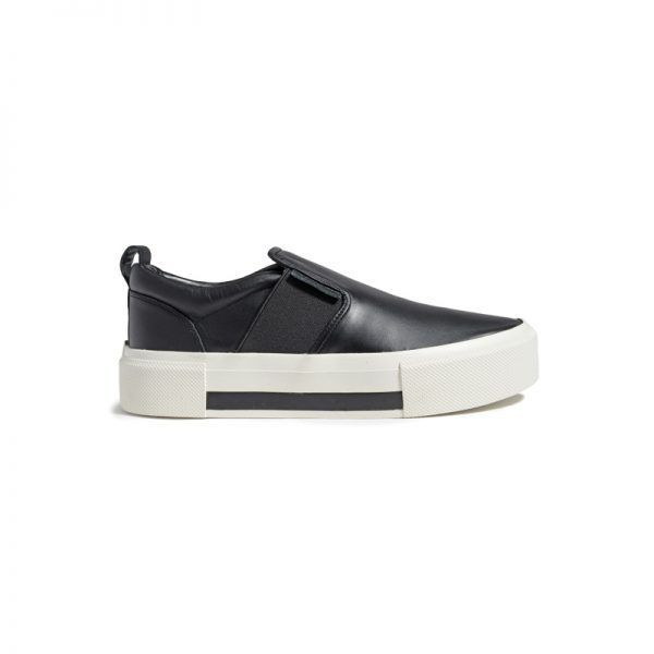 """- """"This shoe is the solution to a 'no sneakers in the office' rule. The non-platform platform adds a bit of height, and the black is clean, modern and chic. Pair them with a suit for an instant Lauren Hutton moment.""""Kendall + Kylie Women's Tenley Fashion Sneaker, $80 - $130"""