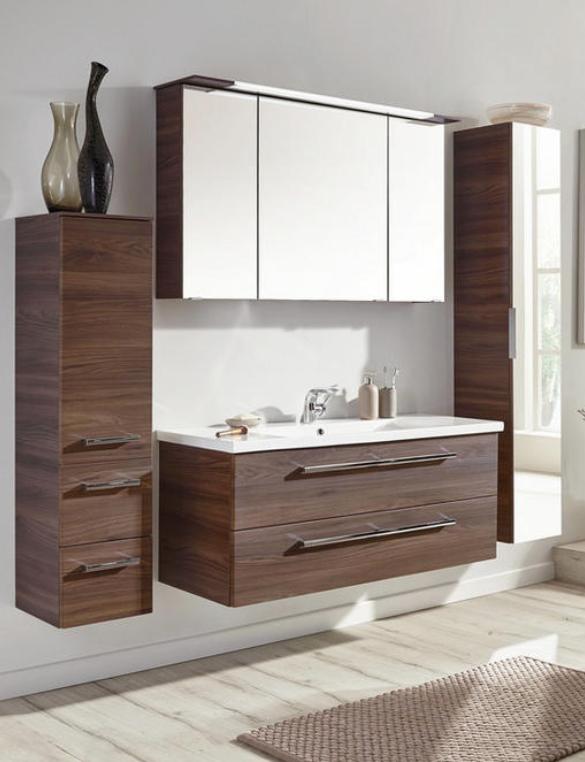 Badezimmerschrank Mit Drehtur In Braun Fur Jedes Badezimmer Geeignet Badezimmer