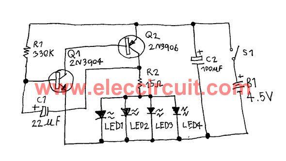 fast blinking led bike light circuit eleccircuit com rc circuit rh pinterest com Light Switch Wiring Diagram Light Switch Home Wiring Diagram