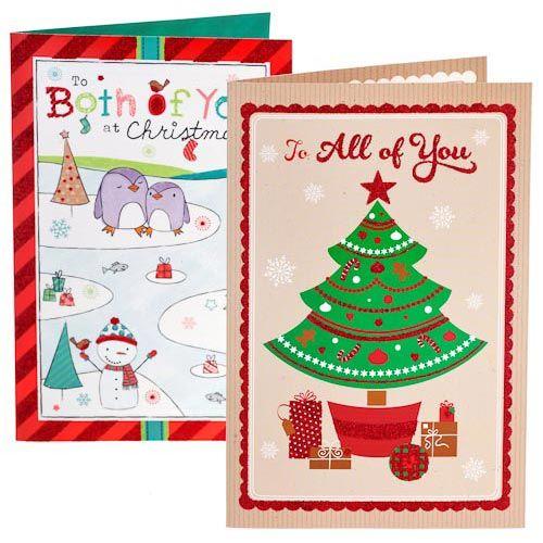 2 for £1 Christmas Cards   Poundland