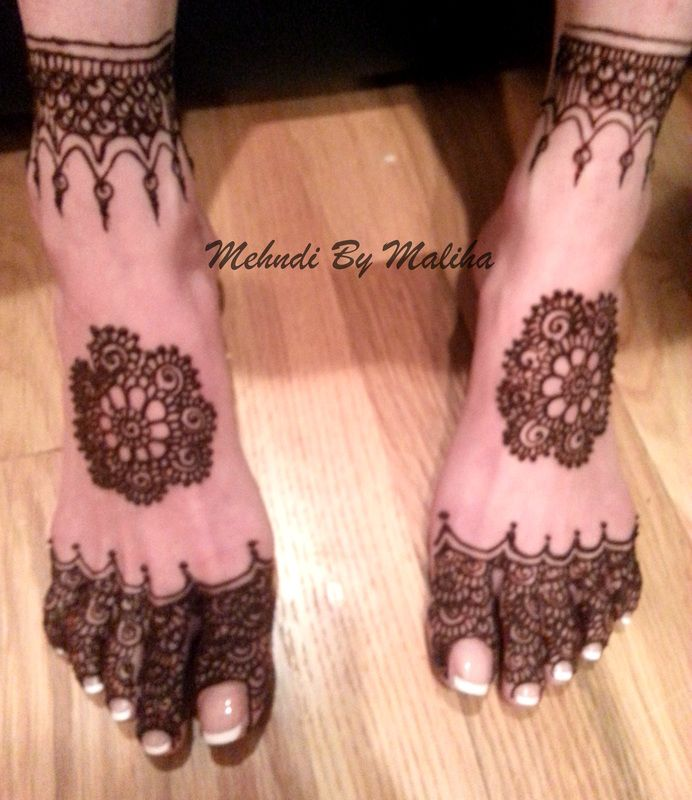 Feet mehndi, indian design.