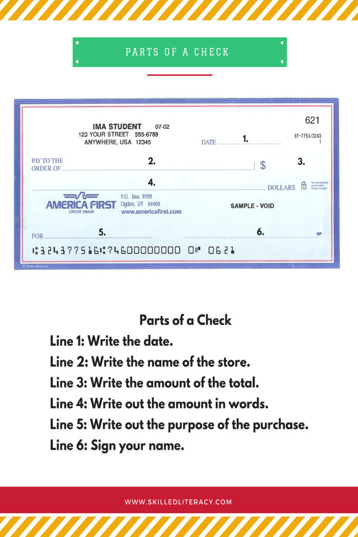 How to write us check